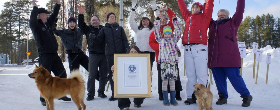 År 2013 var det år då Vuollerimbygden slog världsrekord!